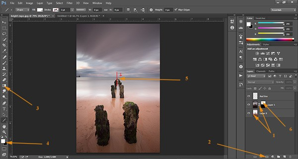 how to add gradient mask in photoshop